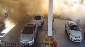 بالفيديو.. شاهد لحظة انفجار محطة وقود بالمدينة المنورة فى السعودية