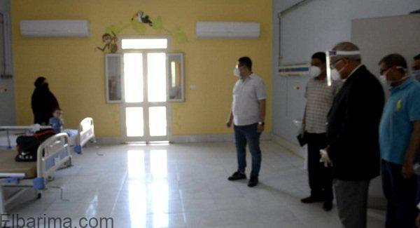 محافظ الجيزة يزور طفل رضيع مشتبه بإصابته بالكورونا بمستشفى ام المصريين