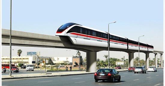 """خط سير قطار الـ """"مونوريل"""" من أكتوبر حتى المهندسين"""