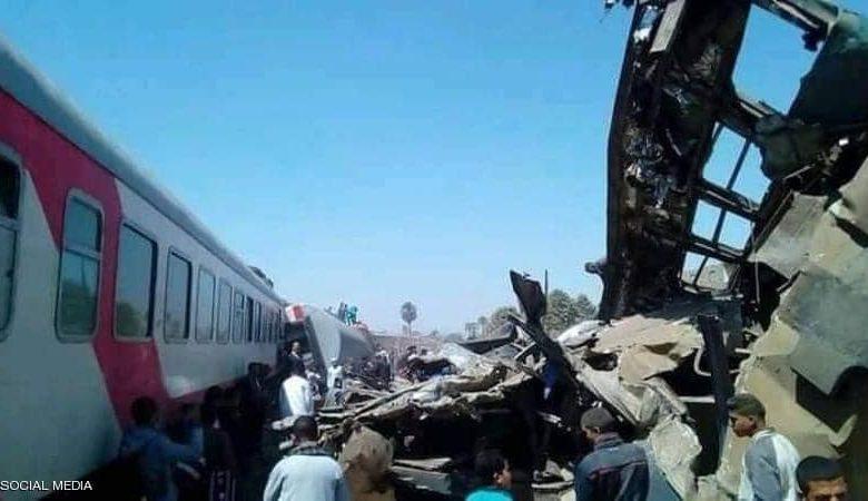 مصر: سرعة صرف التعويضات لأسر المتوفين والمصابين بحادث قطاري سوهاج