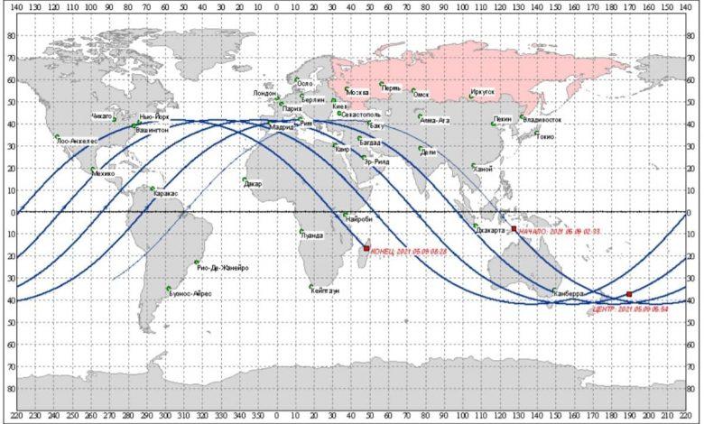 مباشر..رحلة صاروخ الصين التائه وتوقع مكان وموعد سقوط حطامه